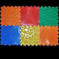 Масажний килимок Мікс Пазли 6 елементів Ортек