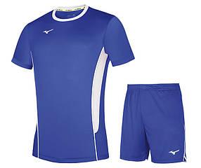Волейбольная форма Mizuno Authentic High-Kyu Tee / High-Kyu Short (голубая)