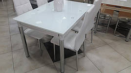 Стеклянный стол ТВ 020 (без узора) (ультро-белый)