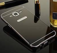 Чехол для Galaxy J5 2015 / Samsung J500 зеркальный черный