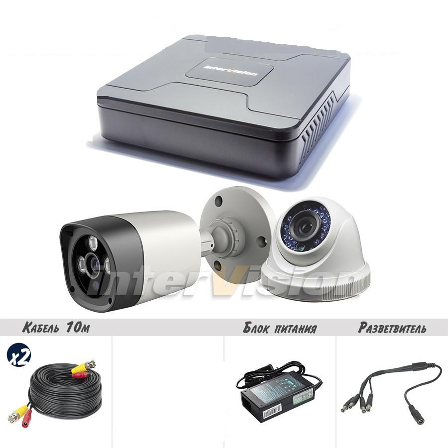 KIT-5121 Полный! комплект видеонаблюдения цифровые видеокамеры  2.4 Mp + видеорегистратор