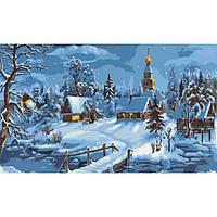Картина по номерам Зима в селе 40 х 50 см (КН2213)