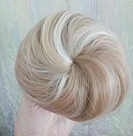 Накладная гулька, накладной пучок из волос, шиньон из синтетических волос, цвет - 18Н613