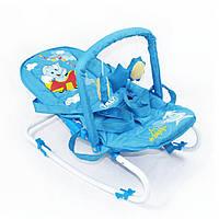 Детский шезлонг Голубой Baby Tilly (BT-BB-0001 BLUE)