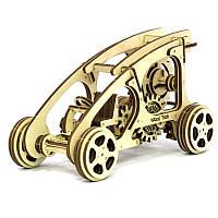 Деревянная сборная механическая 3D модель Wood Trick Багги 190043