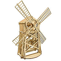 Деревянная сборная механическая 3D модель Wood Trick Мельница 190012