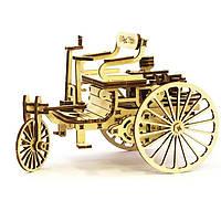 Деревянная сборная механическая 3D модель Wood Trick Первый автомобиль 190098