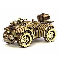 Деревянная сборная механическая 3D модель Wood Trick Квадроцикл 190074