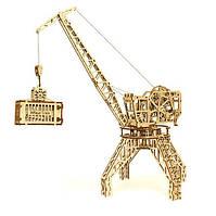 Деревянная сборная механическая 3D модель Wood Trick Кран 190081
