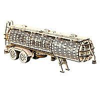 Деревянная сборная механическая 3D модель Wood Trick Прицеп цистерна 190289
