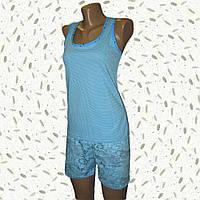 Комплект женский для дома майка с шортами