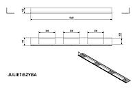 Стекло для биокамина  JULIET 1800 (комплект стекло и подставка)