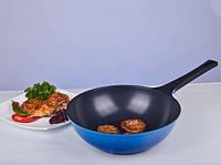 Сковорода WOK Hilton CM-W30 30 см Cиняя