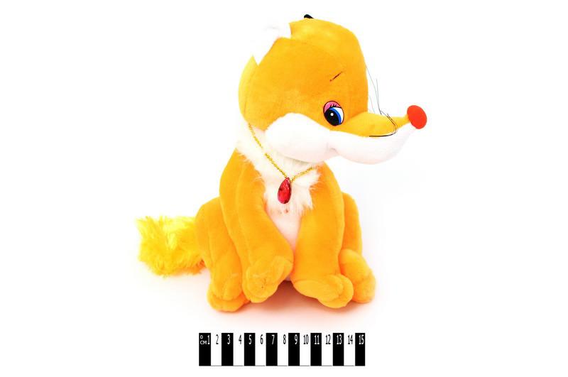 Мягкая игрушка Лисичка М-ZY569\28, музыкальная 28 см