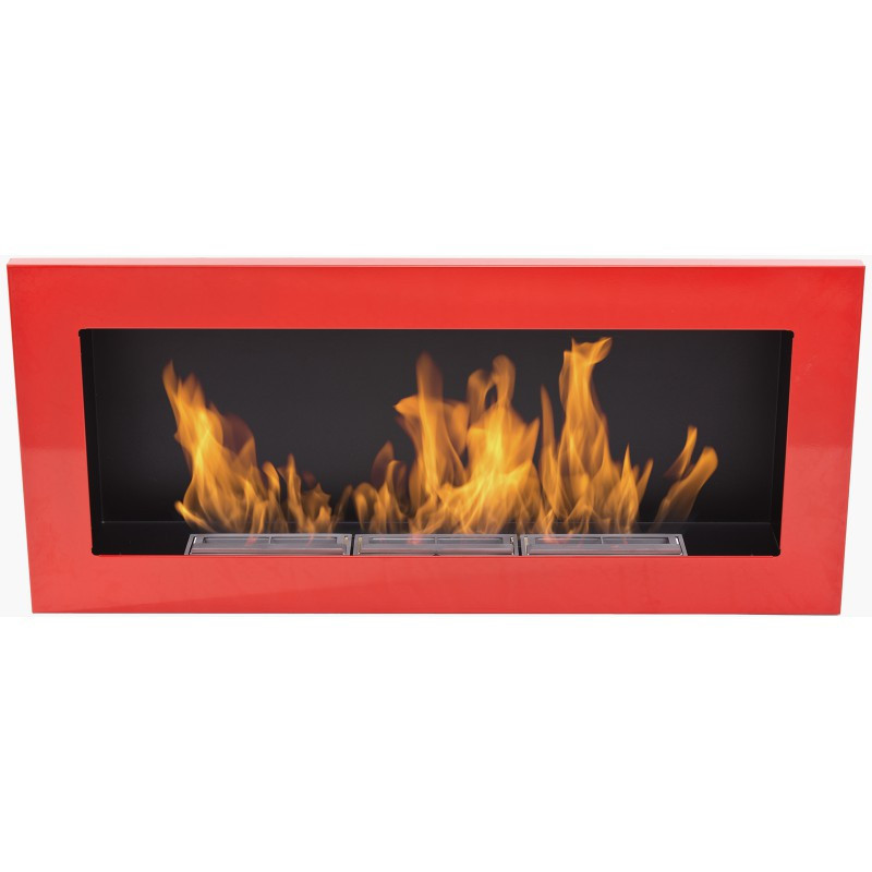 Биокамин  Nice-House  900x400 мм-красный глянец