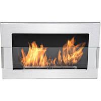 Биокамин  Nice-House inox  650x400 мм- нержавеющая сталь со стеклом