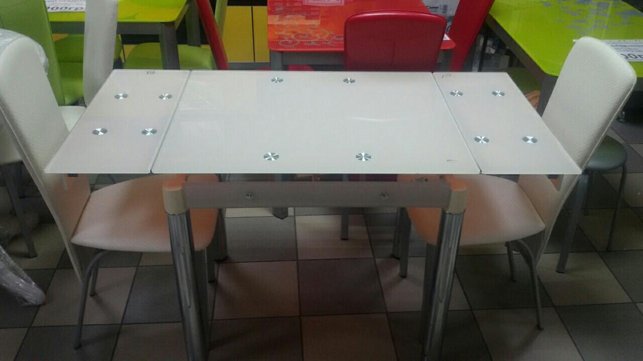 Стол ТВ 21А (кремовый) (без узора и боковой накладки)