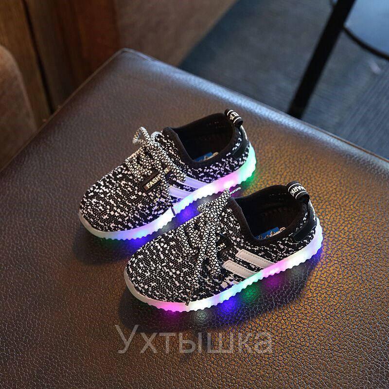 528b451f Детские светящиеся кроссовки на батарейках