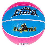 Мяч баскетбольный резиновый качественный №3 Sima, R3CM, фото 1