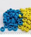 Резинка Калуш малая 100 шт/уп желто-голубая, фото 2