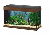 Стеклянный аквариум DUBAI 80 WALNUT.Ferplast