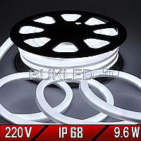 Неоновая лента 220 В, Dream light, 220V  IP 68 Белая (Гибкий неон/холодный неон)