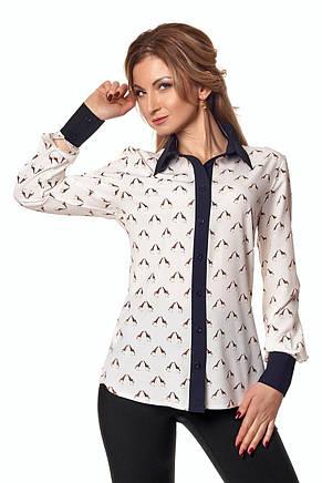Стильная женская блуза рубашка с длинным рукавом, фото 2