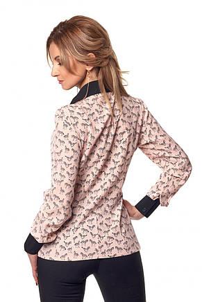 Стильная женская блуза рубашка с длинным рукавом, фото 3