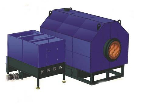 Твердотопливный теплогенератор  типа ТМ с форсажной камерой, фото 2
