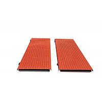Подвижные платформы (пара) длина 1000мм ширина 500мм, высота 50мм. Цвет порошковой краски на выбор – красный,