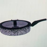 Глубокая Сковорода, От  Литой Алюминий, Обе  Стороны Гранитное  Покрытие ЕВ-3323-24см 3лит.