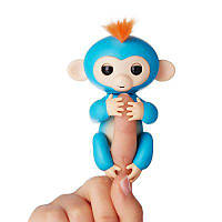Fingerlings Baby Monkey Интерактивная Ручная Обезьянка БОРИС (синий с оранжевыми волосами)