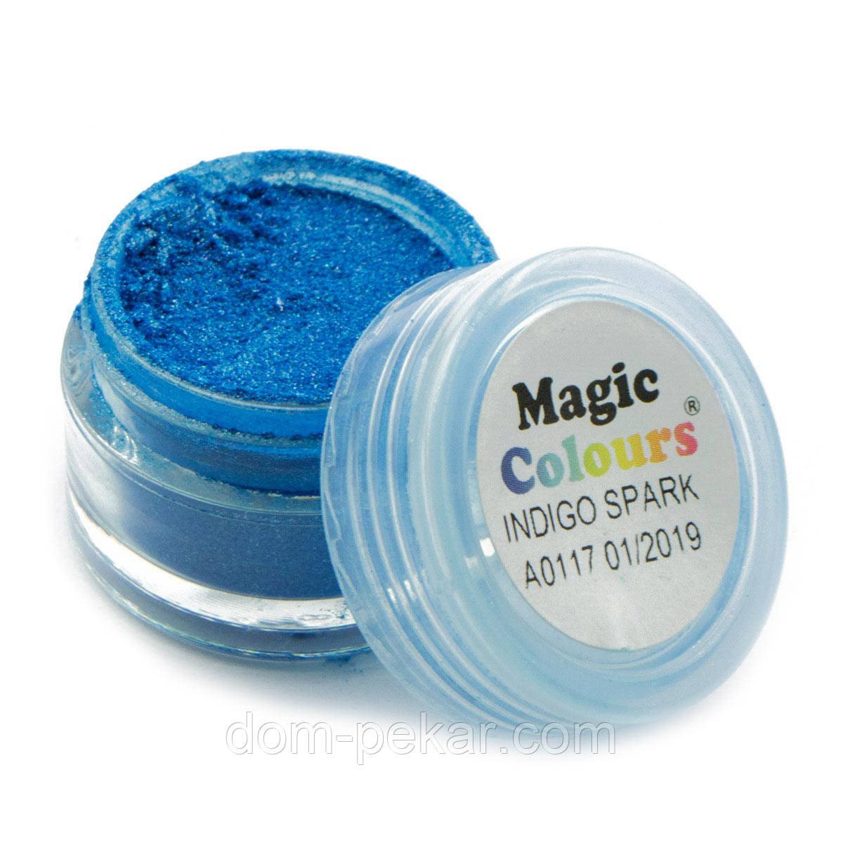 Пудра блестящая Индиго Синяя Magic Colours 7 мл