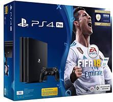 Приставка PlayStation 4 Pro 1Tb Black (FIFA 18/ PS+14Day)