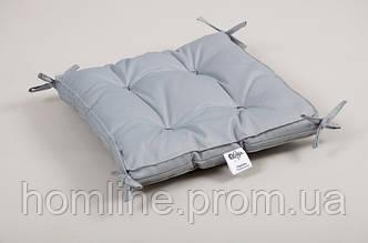 Подушка на стул Lotus Optima 40*40*5 с завязками серая