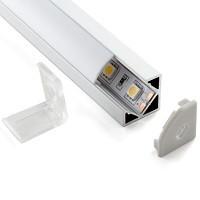 Изображение разобранного углового линейного светодиодного светильника