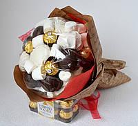 Букет сладкий из зефира, мармелада, печенья и конфет