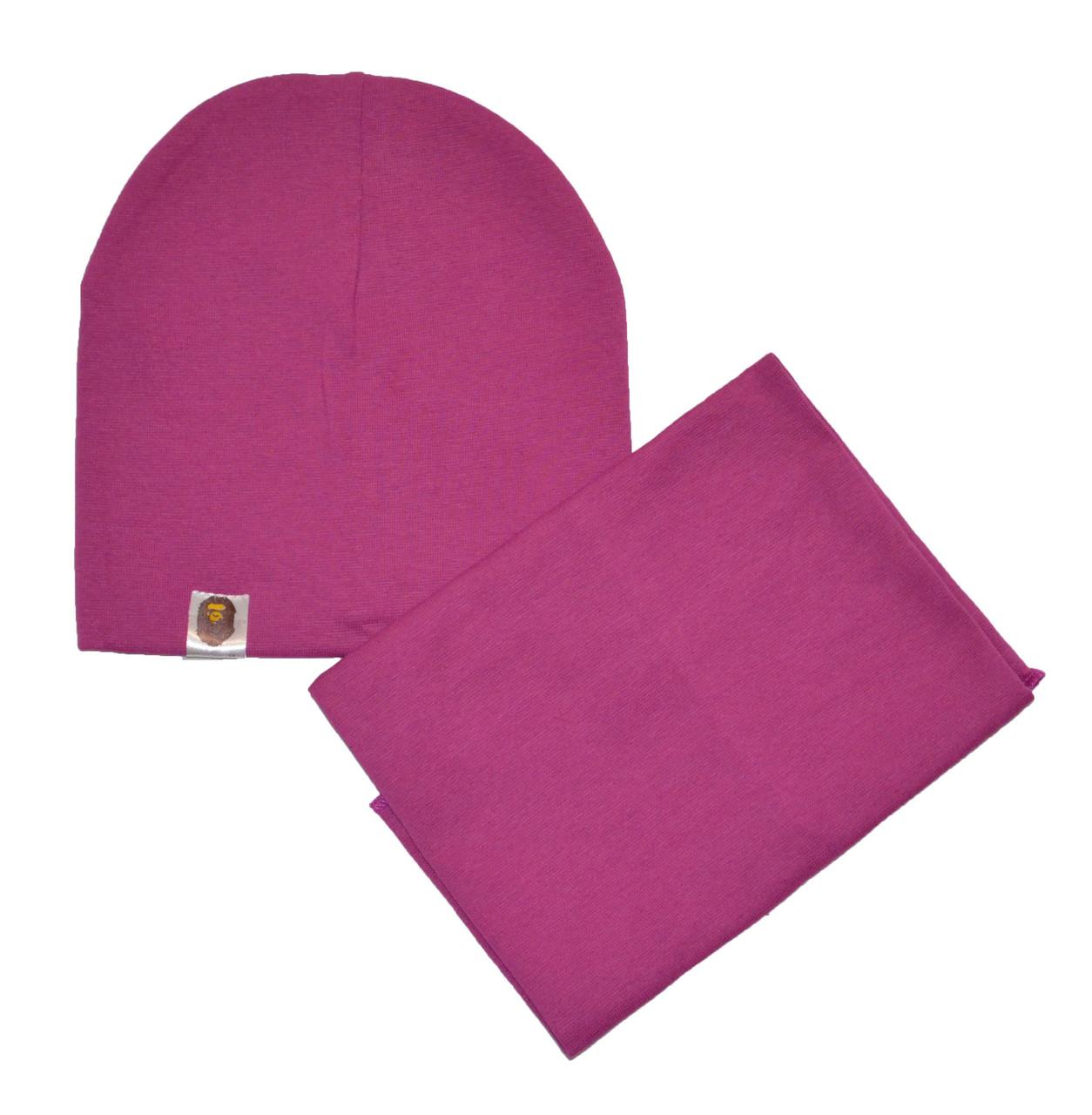 Шапка и шарф хомут для детей и взрослых