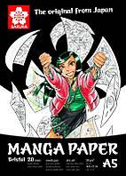 Альбом для рисунка А5, Manga, 148*210 мм, 250 г/м, 20 листов, Sakura, 99MANPADA5, 398491
