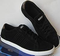 """Замшевые мужские подростковые кроссовки Adidas """"Stan Smith"""". Кеды Aдидас Стен Смит."""