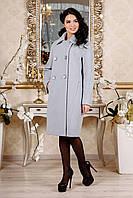 Демісезонне пальто на гудзиках з відкладним воротніком