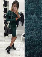 Женское платье миди Риан темно-зеленый, женские платья