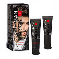 Крем-краска Nouvelle Simply Man Match Hair Color Cream №1 (черный)