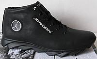 Зимние мужские кожаные кроссовки  Jordan, фото 1