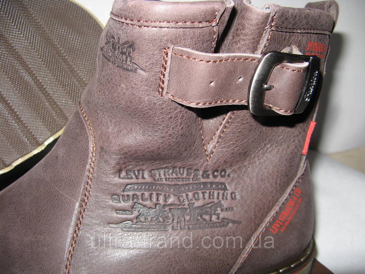 Levis! Мужские зимние кожаные Levi s Угги коричневые 68041335815b0
