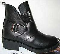 Женские демисезонные кожаные ботинки в стиле Diesel, фото 1