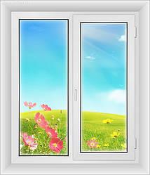 Окна пластиковые 1300*1400-Эконом