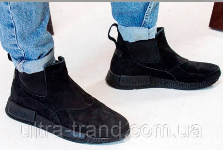 Осенниемужские ботинки Gross нубук флис