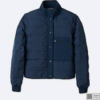 Женская темно-синяя куртка-жилетка на пуху весна осень Uniqlo, фото 1