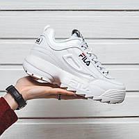 Мужские кроссовки в стиле Fila Disruptor 2 White Белые